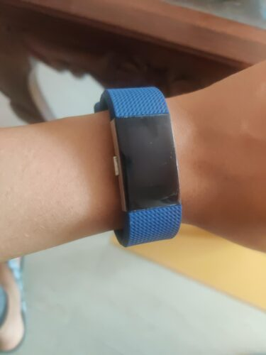 invella Silicon Straps for Fitbit Charge 2 / HR (Navy Blue) - Small photo review